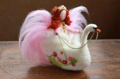 Swan Princess Schwan Fairy Nadel Filz Waldorf von CloudBerryCrafts
