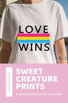 Show off your pan pride with this lgbt pansexual shirt! Let the world know you are pan and you are proud of your sexuality! Click through to grab yours. Vegan Fashion, Ethical Fashion, Gay Shirts, Funny Shirts, Pansexual Flag, Intersectional Feminism, Etsy Business, Lgbt, Graphic Tees