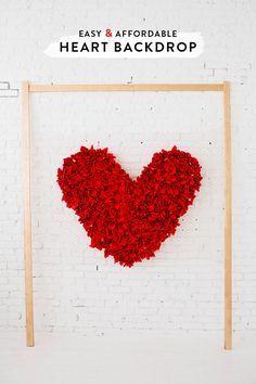 DIY heart backdrop | designlovefest