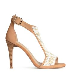 H&M Beaded sandals H&m Heels, Pumps, Beaded Sandals, H&m Online, Crazy Shoes, Clothes For Sale, Blue Shoes, Fashion Online, Shoe Boots