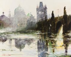 "Gleb Goloubetski - 'Prague Light."" Oil on canvas. 80vcm x 100v cm."