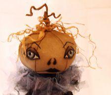 folk art halloween dolls - Google Search Halloween Doll, Autumn, Fall, Gourds, Decorative Items, Art Dolls, Folk Art, Primitive, Arts And Crafts