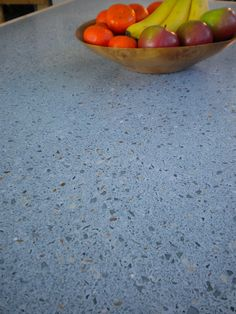 recycled glass/shell countertop