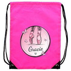 The Big Card Company Personalised Ballet Pink Kit Bag Pe Bags, Card Companies, Drawstring Backpack, Back To School, Personalized Gifts, Ballet, Product Description, Kit, Cards