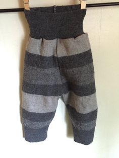 These cute little longies are made from a felted 100% wool sweater. Should fit…