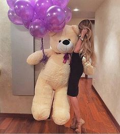 A big teddy bear Teddy Girl, Giant Teddy Bear, Cute Teddy Bears, Costco Bear, Lucky Girl, More Cute, Birthday Presents, Valentine Gifts, Dinosaur Stuffed Animal