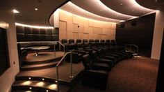 Luxury theater with dining booth