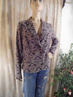 Bohemian Blazer Boho Style Clothes Size XL Black by LandofBridget