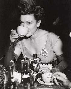 Weegee (1899-1968), [Intermission at Metropolitan Opera, New York], ca. 1944