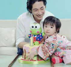 Dean Fujioka with Rin-chan