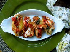 Chicken Sausage Stuffed Shells with Artichoke & Spinach
