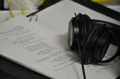 """It's a beautiful thing to see my script on set!  Production photo from """"The Radical Notion of Gene Mutation."""""""