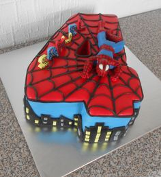 samuel's spiderman cake...