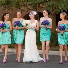 Turqoise and purple wedding