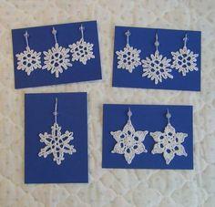 Langan päästä kiinni: Lumihiutalekoristeet Free Crochet, Knit Crochet, Diy Christmas Cards, Winter, Crochet Patterns, Sewing, Knitting Ideas, Handmade Cards, Winter Time
