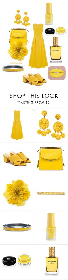 """Yellow"" by giulia-ostara-re ❤ liked on Polyvore featuring Warehouse, Humble Chic, Sam Edelman, Fendi, Gucci, Effy Jewelry, Hermès, Givenchy and Strangelove NYC"