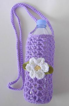 Water Bottle Cozy Crochet Pattern | Cozy Home Scenes: My Crochet Projects