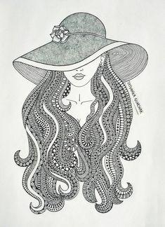 zentangle by Tatyanka-Gunchak on DeviantArt Doodle Art Drawing, Zentangle Drawings, Cool Art Drawings, Mandala Drawing, Art Drawings Sketches, Zentangle Art Ideas, Mandala Sketch, Mandala Doodle, Sketch Drawing