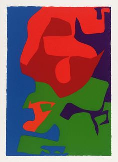 Patrick Heron, 20 : Second Vertical Screenprint : 1976 Abstract Painters, Abstract Drawings, Abstract Art, Patrick Heron, Composition Design, Screen Printing, Pop Art, Yorkie, Fine Art