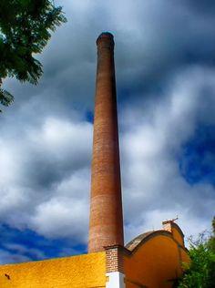 Chimenea antigua fabrica textil