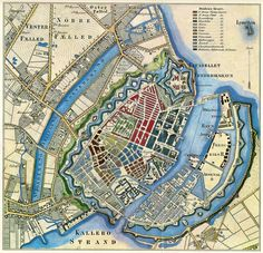 Map of Copenhagen, København,Denmark Vintage Maps, Antique Maps, Disney Magic, Star Fort, Artist Point, Denmark Travel, Map Globe, Old Maps, Denmark