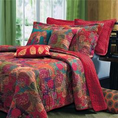Jewel Toned Quilt Bedding Set