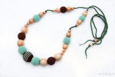 Pistachio green and Brown Juniper mom Nursing by MagazinIL on Etsy, $30.00