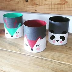 DIY, Beautiful and Ingenious Ideas Tin Can Crafts, Crafts For Kids, Arts And Crafts, Tin Can Art, Diys, Decorated Flower Pots, Painted Clay Pots, Diy Cans, Fabric Dolls