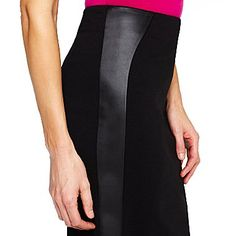 Liz Claiborne Pleather Trim Pencil Skirt - jcpenney    Maybe? It's on clearance though.