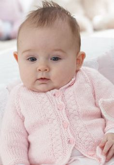 free kitting pattern for baby Cardigan knit top down for babies and toddlers with beautiful, simple details. Knit in Patons Beehive Baby Sport.