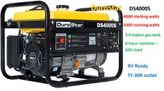 Top Power Tools Review: DuroStar 30A RV Generator Camping Generator, Honda Generator, Portable Generator, Rv Outlet, Inverter Generator, Open Frame, Fuel Economy, Power Tools