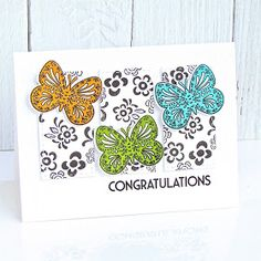 butterfly folk + butterfly folk outline botanical bounty+ bold borders: flare Yay..... it's Day 3 of Papertrey Ink's April 2018 rele...