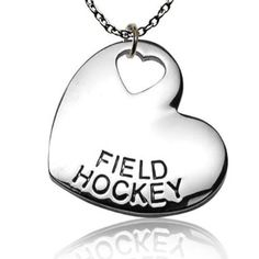 Amazon.com: Field Hockey Sport Heart Necklace: Sports & Outdoors