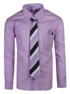 Aiden Fouger USA Boys Slim Fit Long Sleeve Dress Shirt