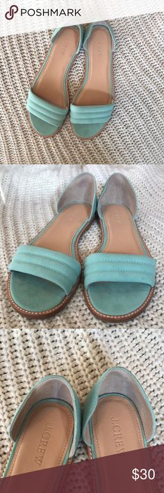 J.Crew Hayes Flat Sandal - turquoise/blue -  7 NEW J.Crew Hayes Flat Sandal - turquoise/blue -  size 7, brand new, never worn J. Crew Shoes Flats & Loafers