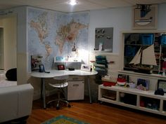 Map above study area.  Playroom