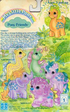 My Little Pony Pony Friends Oakly backcard . My Little Pony Friends, Hasbro My Little Pony, My Lil Pony, Little Girls, Vintage My Little Pony, Original My Little Pony, Childhood Toys, Childhood Memories, Filly