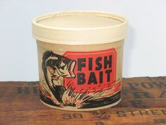 Remember these when I went fishing with my grandpa Going Fishing, Fishing Bait, Clever Design, Cool Designs, Container Design, Advertising Signs, My Daddy, My Memory, Coffee Cans