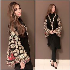 We are awe struck by these breathtaking details and how stunning Safa Khan looks in it! #hinabutt #clientdiaries #blackpower #magical #luxurypret - Latest Kurti Design  IMAGES, GIF, ANIMATED GIF, WALLPAPER, STICKER FOR WHATSAPP & FACEBOOK