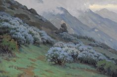Morning Mists, Wild Lilac by John Marshall Gamble   Art Posters