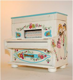 vintage piano jewelry music box by secondseed on Etsy, $28.00
