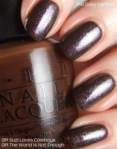 Good idea! OPI Suzi Loves Cowboys as underwear for OPI The World is Not Enough | from The Daily Varnish