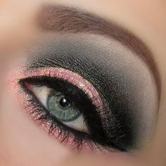 #makeup #pink #green #eyeshadow