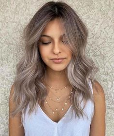 Cool Tone Hair Colors, Cool Hair Color, Ash Hair Colors, Different Hair Colors, Dramatic Hair Colors, Color Tones, Hair Color Streaks, Hair Color Balayage, Hair Highlights