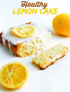 healthier Lemon Cake - Moist, delicious, and healthy low carb lemon cake. Gluten Free too! Low Carb Sweets, Low Carb Desserts, Low Carb Recipes, Cooking Recipes, Banting Desserts, Diabetic Desserts, High Carb Foods, Low Carb Diet, Food Trucks