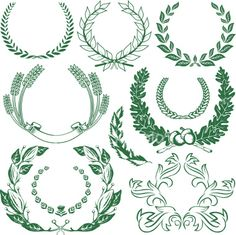 Design Elements - Laurels & Wreaths Royalty Free Stock Vector.  I like the upper right