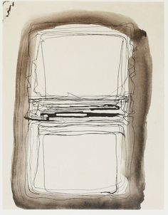Mark Rothko, Untitled, 1961, Pen and ink on paper