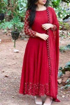 66 OFF-Opulent Red Colored Designer Partywear Heavy Cotton Long Kurti - Salwar Designs, Simple Kurti Designs, Kurti Neck Designs, Kurta Designs Women, Kurti Designs Party Wear, Latest Kurti Designs, Party Wear Indian Dresses, Indian Gowns Dresses, Dress Indian Style