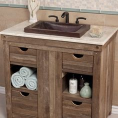 """View the Native Trails VNT300 Crema 31"""" Marble Vanity Top at FaucetDirect.com."""