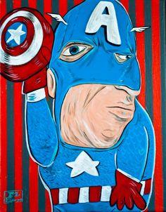 'cubist' super-heroes - mike esparza